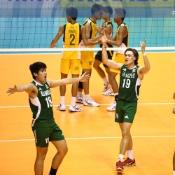 Green Spikers enter semis to face the Blue Eagles