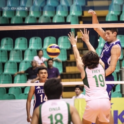 Blue Eagles take game 1 of semis after 5-set win over DLSU
