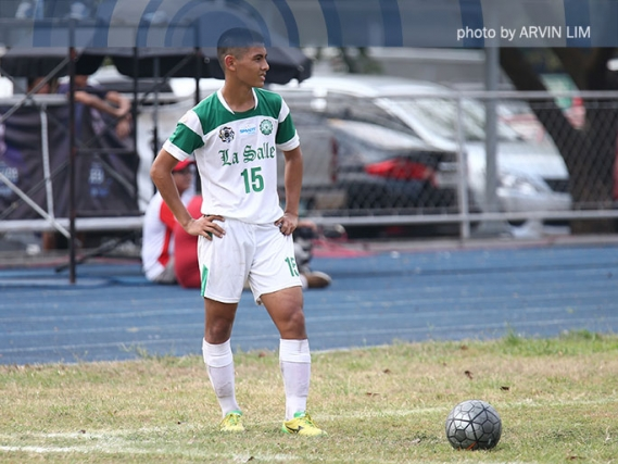 DLSU's Jed Diamante is making the goals, and the grades too