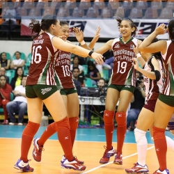 Lady Maroons down Air Force, narrow semis seat to two