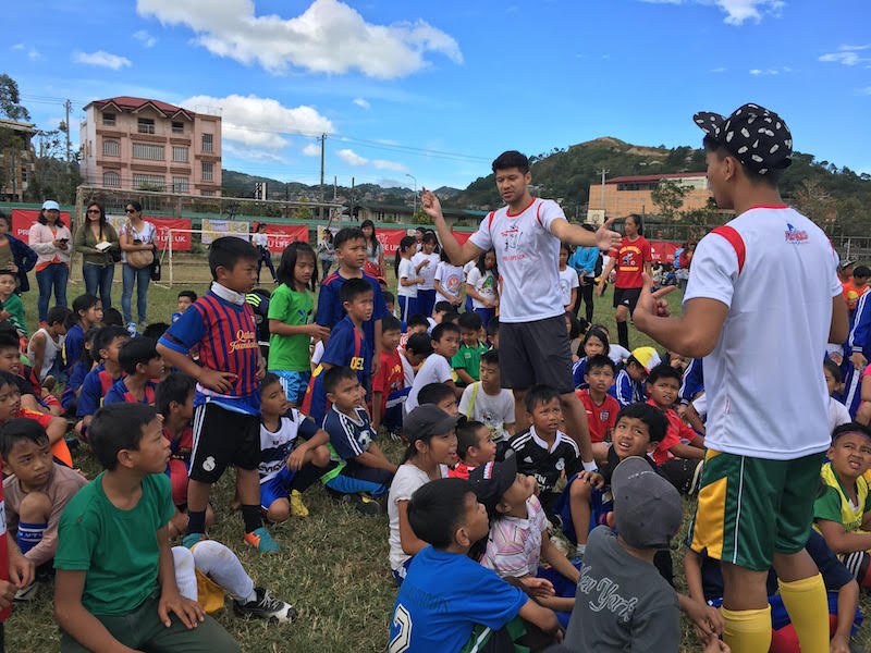 Rota, Caygill, football advocates at FFABL in Benguet, Subic
