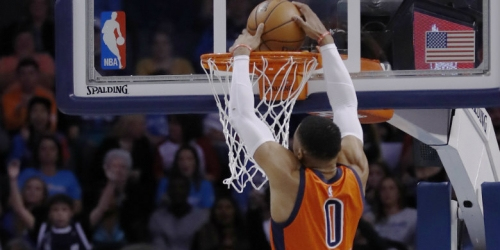 Westbrook's fifth straight triple-double lifts Thunder