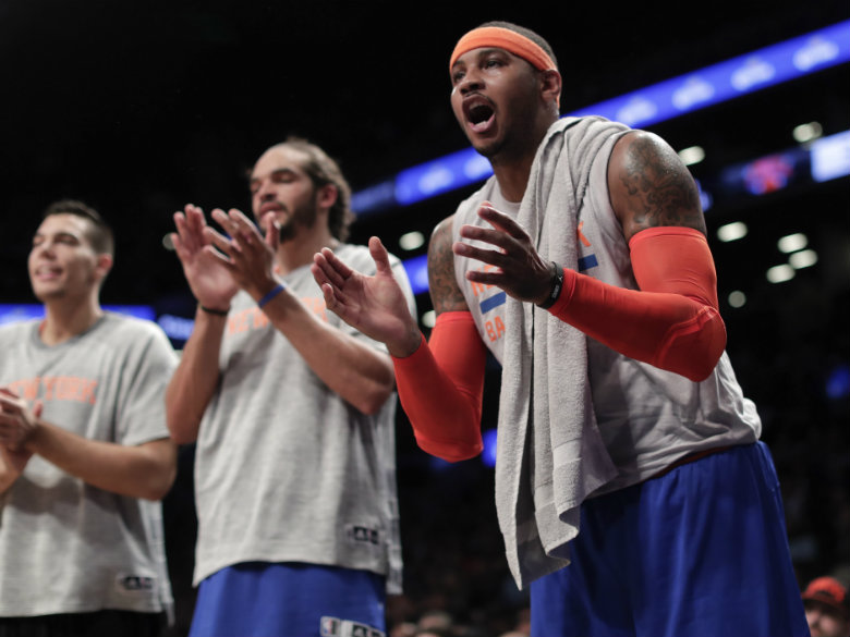Carmelo Anthony Sure Seems Tired Of Phil Jackson's Shit