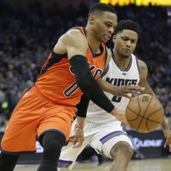 Westbrook gets 20th triple-double, Thunder beat Kings