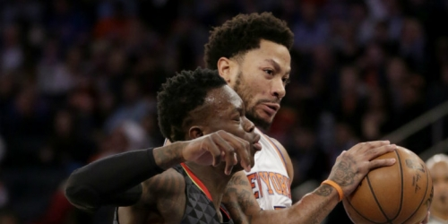 Schroder hits go-ahead triple, leads Hawks past Knicks
