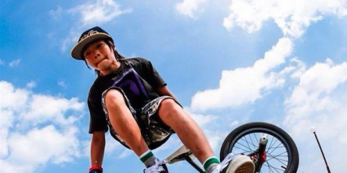 An activity that combines artistic cycling and breakdancing