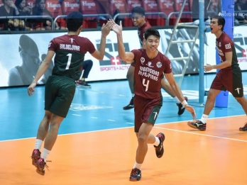 Maroons overcome Tigers in five sets for share of second