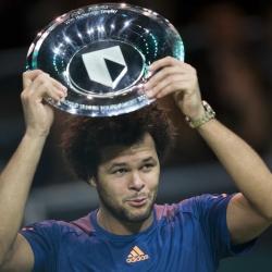 Tsonga beats Goffin to win World Tennis Tournament final