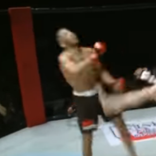 MMA fighter dances mid-fight, gets knocked out
