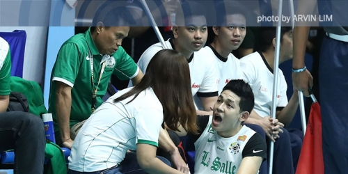 DLSU ace Woo down with suspected ACL injury