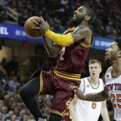 Irving, James lead Cavaliers past Knicks