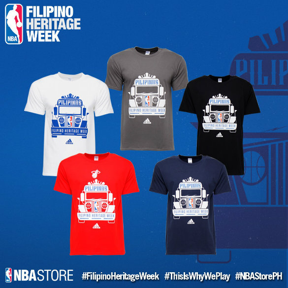 NBA unveils limited Filipino Heritage Week shirts