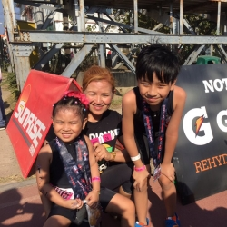 Winning is not everything for this adorable triathlon family