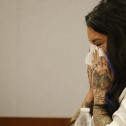 Jury ends day mulling MMA fighter-porn star case in Vegas