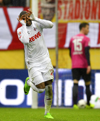 Modeste scores hat trick as Cologne beats Hertha 4-2