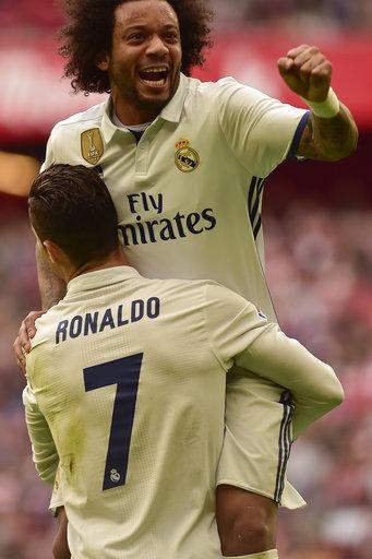 Ronaldo turns playmaker to lead Madrid past Bilbao 2-1
