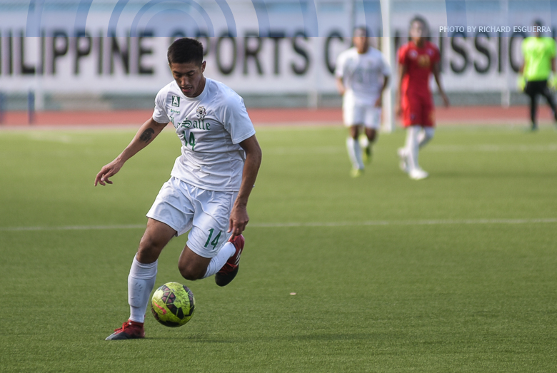 DLSU shoots down UE for second straight win in men' football