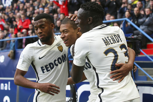 Unstoppable Mbappe scores twice in Monaco's 3-0 win