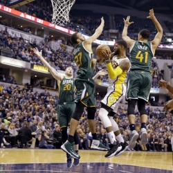 Pacers hit all right notes in victory over road-weary Jazz