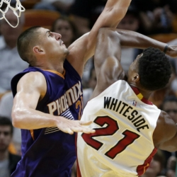 Whiteside leads Heat past Suns, 112-97