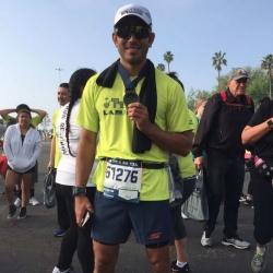 Watch Gerald Anderson's finish line moment at LA Marathon