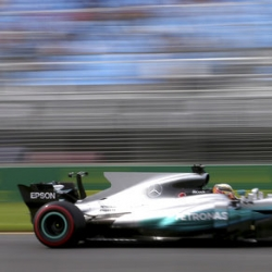 Hamilton posts fastest time in 1st practice at F1 opener