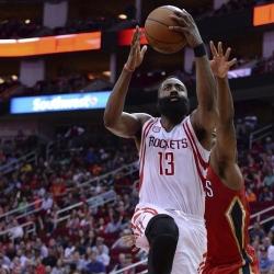 Harden drops 38 in Rockets' liftoff over Pelicans