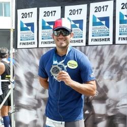 LA Marathon finisher Gerald Anderson shows off casual side
