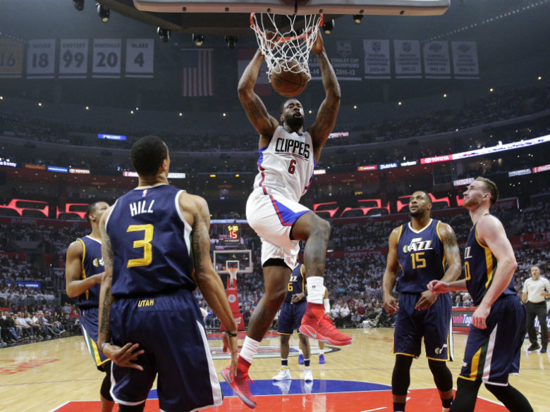 Lob City smash: Clippers beat Jazz 99-91, even series at 1-1