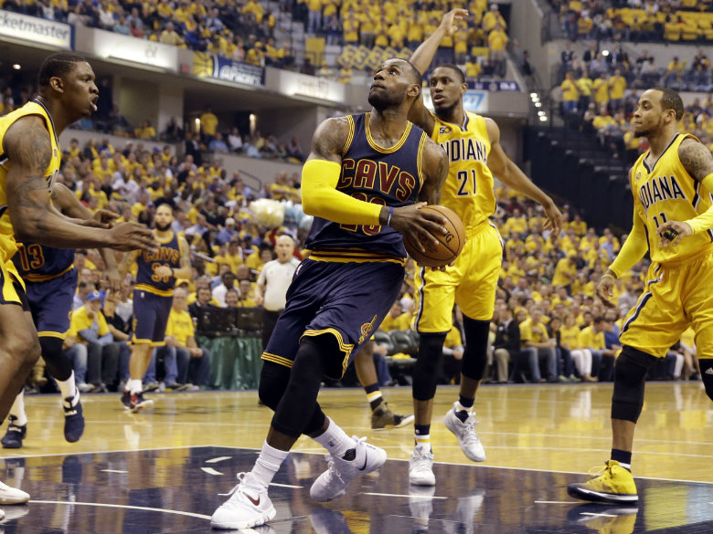 James, Cavs come from 26 down, beat Pacers to take 3-0 lead