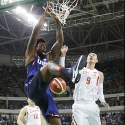 US men's basketball begins Olympic road in Uruguay