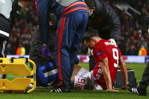 Ibrahimovic joins lengthening injury list at Man United