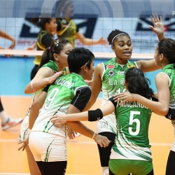 Lady Spikers shoot for Finals berth