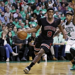 Bulls' Rondo fined for attempting to trip Celtics' Crowder