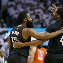 Rockets go retro, unleash Nene's brute force to take Game 4