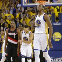 Warriors F Durant available for Game 4 against the Blazers