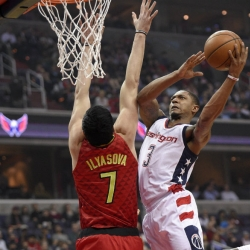 Home, sweet home: Beal, Wall lead Wizards past Hawks, 103-99