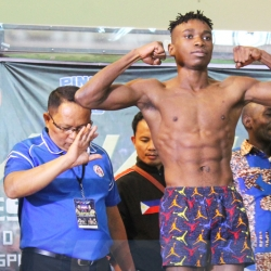 Tanzanian boxer accidentally 'shows off' at weigh-ins