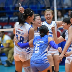Lady Warriors score first win at expense of Jet Spikers
