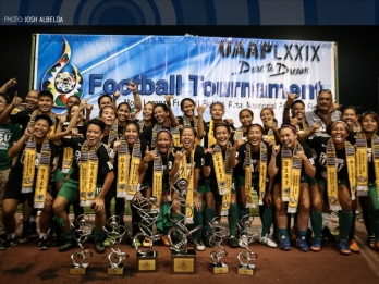 DLSU completes perfect season to win women's football title