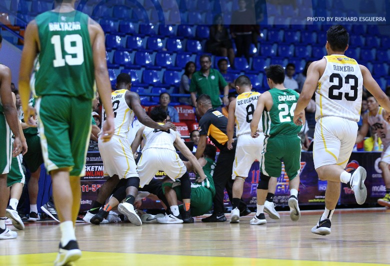 Near-brawl breaks out in DLSU, UST Mother's Day game