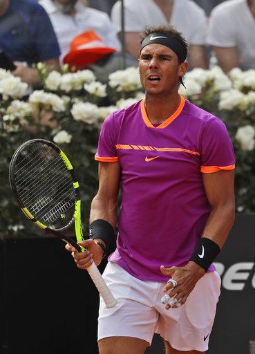 Nadal's winning streak on clay ends, Venus loses in Rome