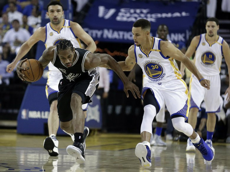 Warriors beat Spurs to reach 3rd straight National Basketball Association finals