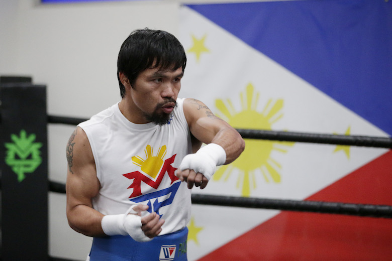 At 38, Pacquiao still wearing younger sparring partners out