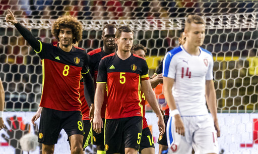 Czechs lose against Belgium in World Cup warm up