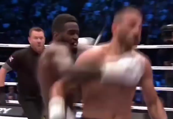 Fans ambush boxer inside ring after controversial KO