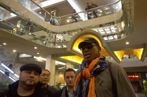 Rodman begins sightseeing on NKorea trip he hopes opens door