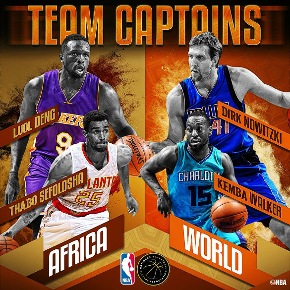 Dirk, Kemba, Thabo, Deng named NBA Africa Game 2017 captains