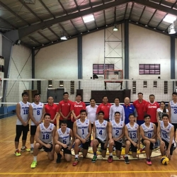Nat'l men's volleyball team sets up training camp in SoKor