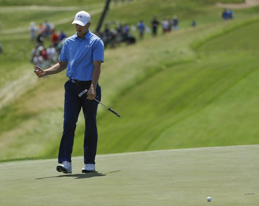 Jordan Spieth, face of Under Armour, goes viral with chip shot celebration